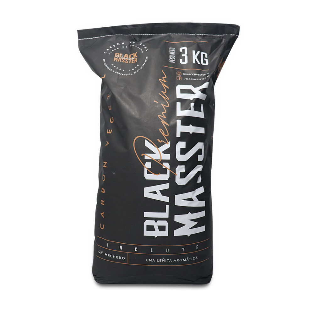 Carbón Vegetal 3en1 Premium 3kg BLACK MASSTER