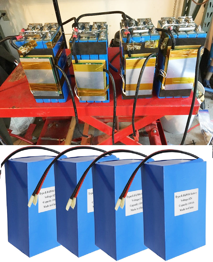 12V 400AH LiFePO4 Battery Pack with Inbuit BMS
