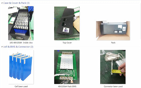 LiFePO4 48V 100Ah Battery pack construction details