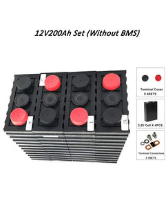 12V 2560WH LIFEPO4 SET WITH 200AH BATTERY CELLS