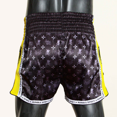 SHORT BOXE THAI TYPO Yellow
