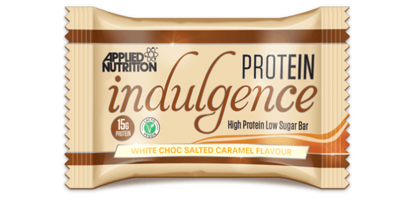 Applied Nutrition White Chocolate Salted Caramel Protein Indulgence Bar - Protein Parcel