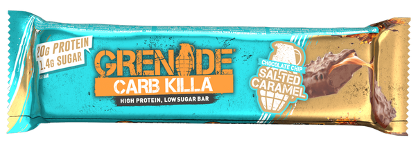 Grenade Carb Killa Chocolate Chip Salted Caramel Protein Bar - Protein Parcel