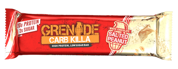 Grenade Carb Killa White Chocolate Salted Peanut Protein Bar - Protein Parcel