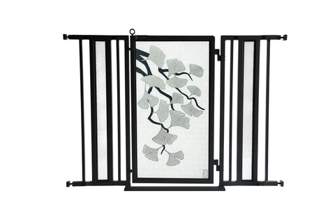 "36"" - 52"" Peaceful Palm Fusion Gate, Black Finish"