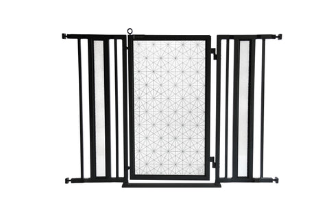 "36"" - 52"" Linear Lace Fusion Gate, Black Finish"