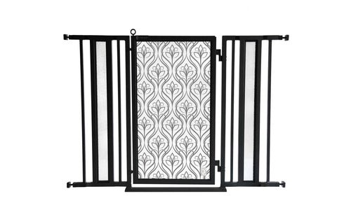 "36"" - 52"" Satin Harvest Fusion Gate, Black Finish"