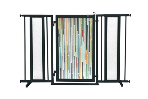 "52"" - 60"" Modern Lines Fusion Gate, Black Finish"