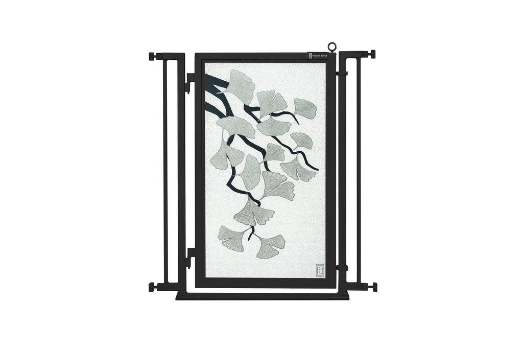 "32"" - 34"" Ginkgo in Platinum Fusion Gate, Black Finish"