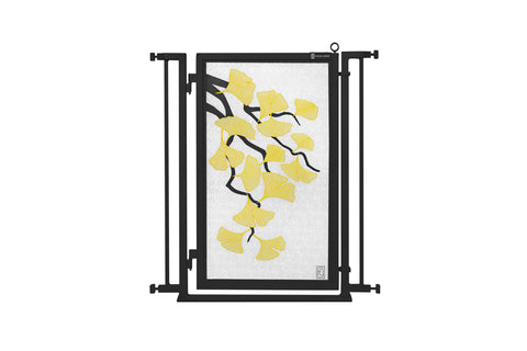 "32"" - 36"" Bauhaus Border Fusion Gate, Black Finish"