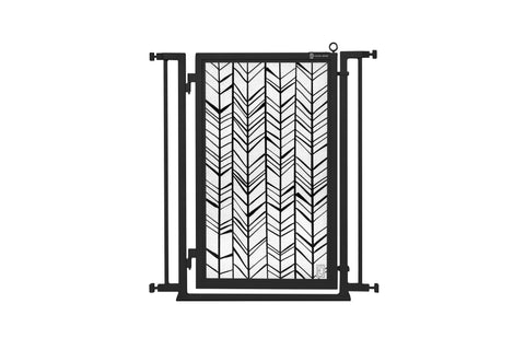 "32"" - 34"" Holiday Ornaments Fusion Gate, Black Finish"