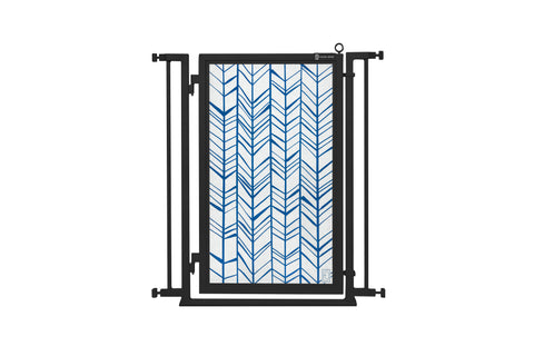 "32"" - 34"" Chevron Trail in Blue Fusion Gate, Black Finish"