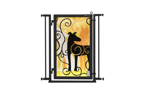 "32"" - 34"" Limited Edition Dream Dog Fusion Gate, Black Finish"