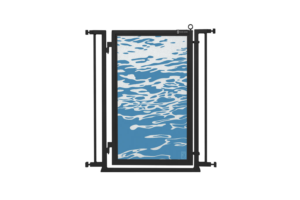 "32"" - 34"" Healing Waters Fusion Gate, Black Finish"