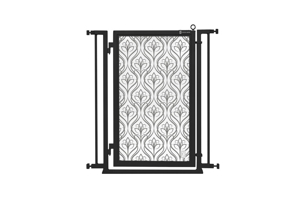 "32"" - 34"" Satin Harvest Fusion Gate, Black Finish"