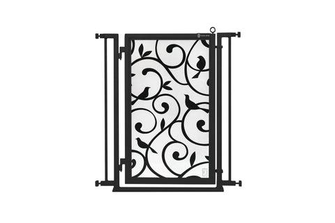 "32"" - 34"" Bauhaus Border Fusion Gate, Black Finish"