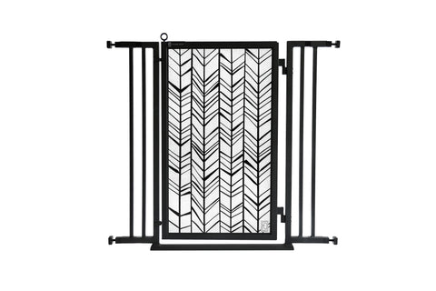 "32"" - 36"" Modern Lines Fusion Gate, Black Finish"