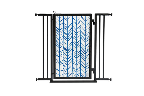 "32"" - 36"" Chevron Trail in Blue, Black Finish"