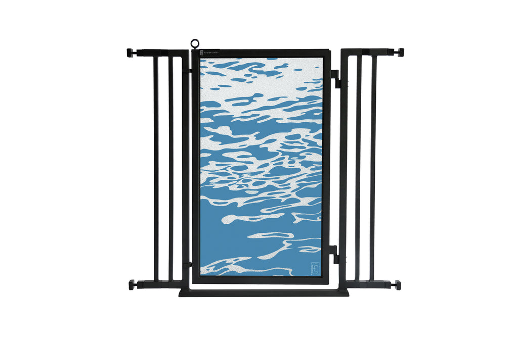 "32"" - 36"" Healing Waters Fusion Gate, Black Finish"