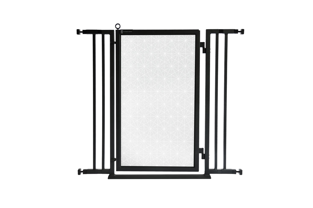 "32"" - 36"" Linear Lace in White Fusion Gate, Black Finish"