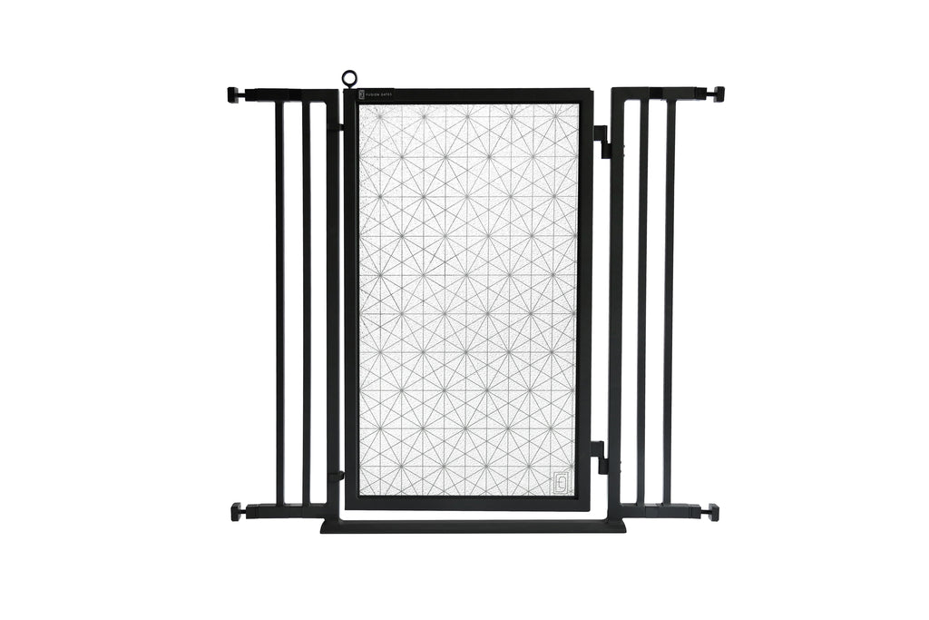 "32"" - 36"" Linear Lace Fusion Gate, Black Finish"