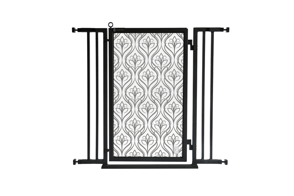 "32"" - 36"" Satin Harvest Fusion Gate, Black Finish"