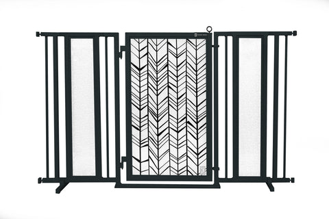 "60"" - 65"" Songbirds in Pink Fusion Gate, Black Finish"