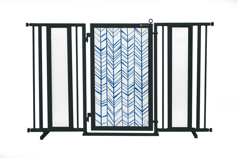 "60"" - 65"" Chevron Trail in Blue Fusion Gate, Black Finish"