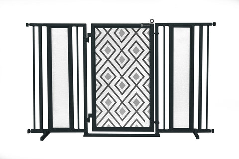 "60"" - 65"" Bauhaus Border Fusion Gate, Black Finish"