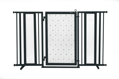 "60"" - 65"" Linear Lace Fusion Gate, Black Finish"