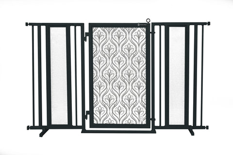 "60"" - 65"" Satin Harvest Fusion Gate, Black Finish"