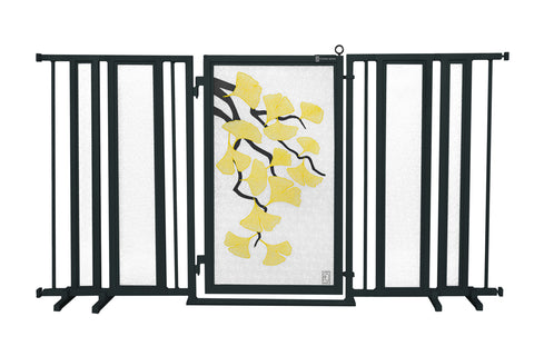 "65"" - 71.5"" Autumn Ginkgo Fusion Gate, Black Finish"