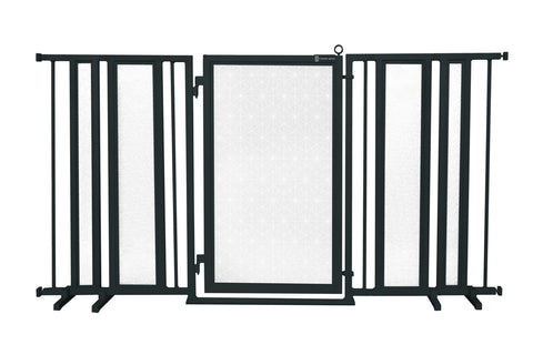"65"" - 71.5"" Linear Lace in White Fusion Gate, Black Finish"