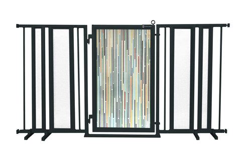"65"" - 71.5"" Modern Lines Fusion Gate, Black Finish"