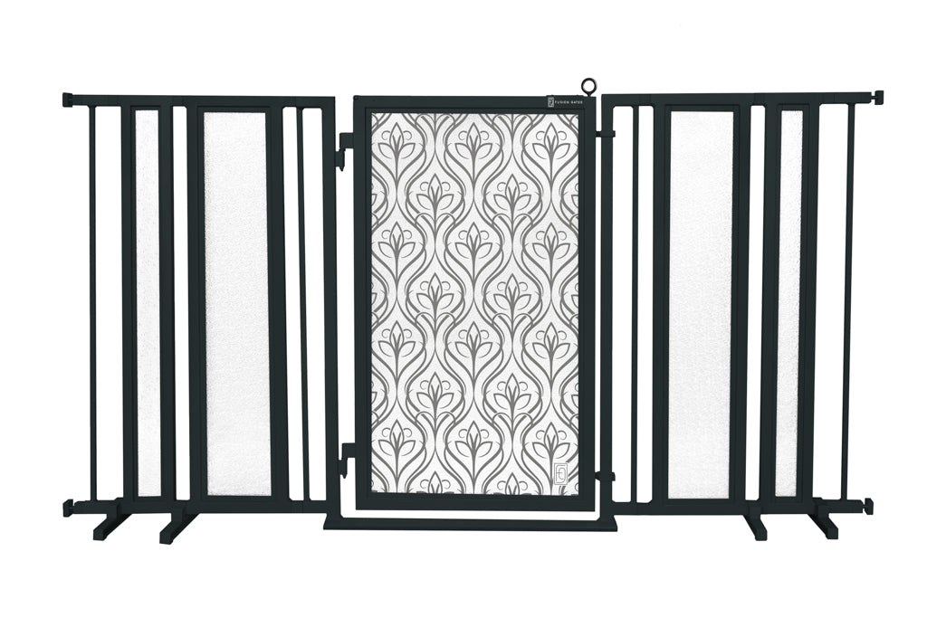 "65"" - 71.5"" Satin Harvest Fusion Gate, Black Finish"