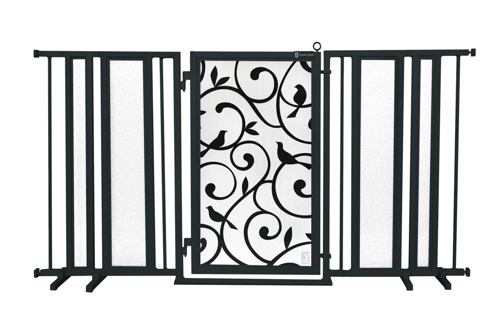 "65"" - 71.5"" Songbirds Fusion Gate, Black Finish"