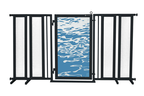 "71.5"" - 74"" Healing Waters Fusion Gate, Black Finish"