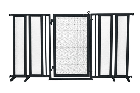 "71.5"" - 74"" Linear Lace Fusion Gate, Black Finish"