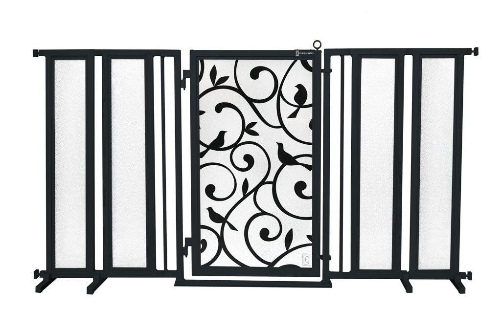 "71.5"" - 74"" Songbirds Fusion Gate, Black Finish"