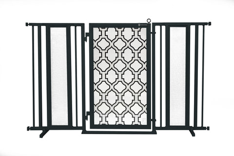 "60"" - 65"" Trellis Fusion Gate, Black Finish"
