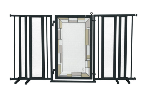 "65"" - 71.5"" Gray Diamonds Fusion Gate, White Pearl Finish"