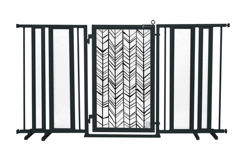"65"" - 71.5"" Chevron Trail Fusion Gate, Black Finish"
