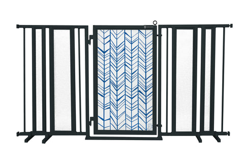 "65"" - 71.5"" Chevron Trail in Blue Fusion Gate, Black Finish"