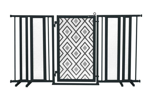 "65"" - 71.5"" Gray Diamonds Fusion Gate, Black Finish"