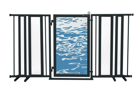 "65"" - 71.5"" Healing Waters Fusion Gate, Black Finish"