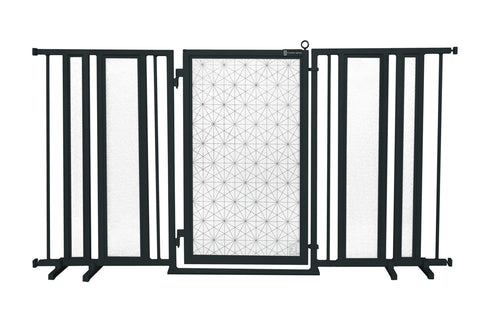 "65"" - 71.5"" Linear Lace Fusion Gate, Black Finish"
