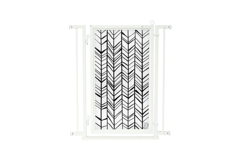 "32"" - 34"" Chevron Trail Fusion Gate, White Pearl Finish"