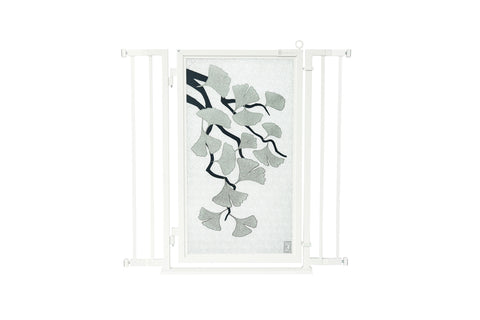 "32"" - 36"" Ginkgo in Platinum Fusion Gate, White Pearl Finish"