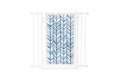 "32"" - 36"" Chevron Trail in Blue, White Pearl Finish"
