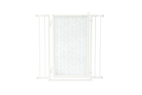 "32"" - 36"" Linear Lace in White Fusion Gate, White Pearl Finish"